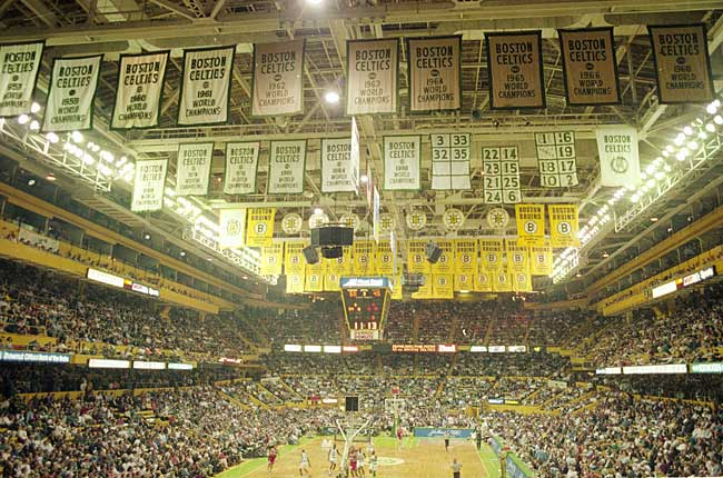 In the final Celtics game played at Boston Gardens, the Orlando Magic beat the Boston Celtics 95-92 to advance to the second round of the NBA playoffs.