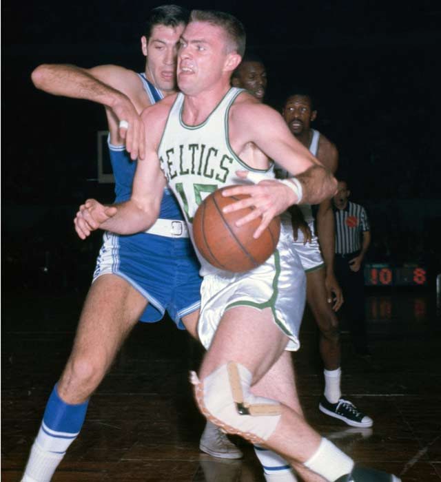 NBA legends Tommy Heinsohn (pictured), Billy Cunningham and Red Holzman are among six men inducted into the Naismith Memorial Basketball Hall of Fame.