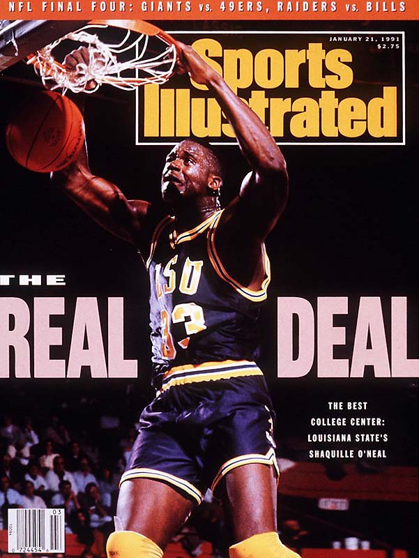 This marks the first of Shaquille O'Neal's 15 appearances on the SI cover. At the time, Shaq was a 19-year-old manchild who'd go on to win  the Adolph Rupp Trophy as NCAA men's basketball player of the year in 1991. <br><br>Send comments to siwriters@simail.com