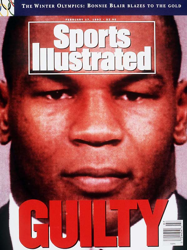 "A month after defeating No. 2 contender Donovan ""Razor"" Ruddock in a 12-round bout, Mike Tyson's boxing career came to a sudden halt when, in July 1991, he was sentenced to prison for raping 18-year old beauty queen Desiree Washington. Tyson spent three years in jail and did not return to boxing until 1995."
