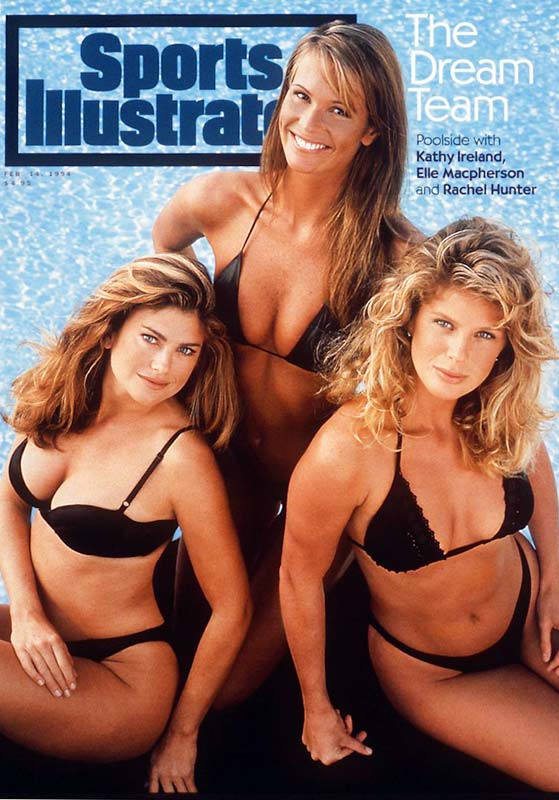 Usually reserved for just one model, the 1994 cover of the SI Swimsuit Issue featured three women  -- Kathy Ireland, Elle Macpherson and Rachel Hunter. Anyone mind?