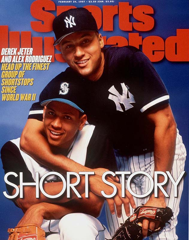 Derek Jeter already had two World Series rings when a 21-year old Alex Rodriguez joined him on the cover of this 1997 issue. Sure, A-Rod eventually moved to third base, but at the time, the duo -- along with the likes of Miguel Tejada -- headed an incredible crop of young shortstops.