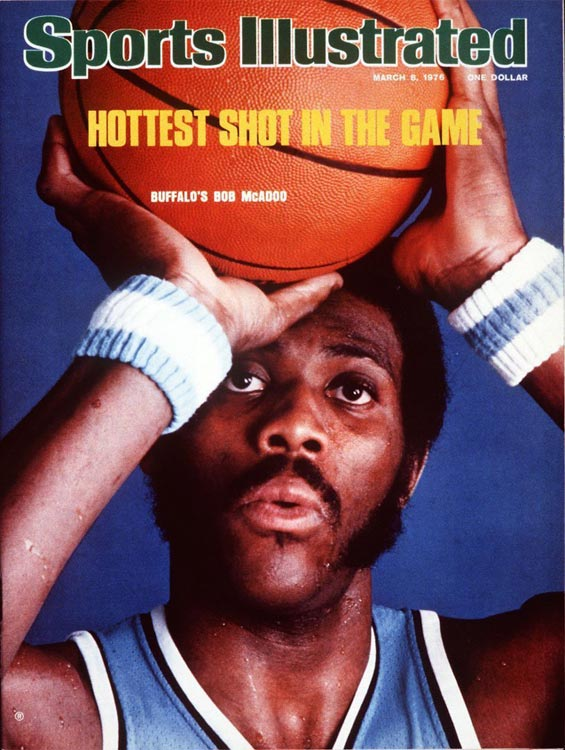 "McAdoo enjoyed the finest season of his career as a 23-year-old star with the Buffalo Braves, leading the league in scoring (34.5) and total rebounds (1,155). He'd later achieve his other dream, winning not one but two championships, both while with the ""Showtime"" Lakers squads of the 1980s."