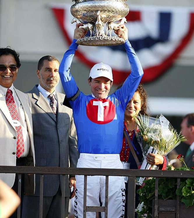 Kent Desormeaux found the Belmont winner's circle after being disappointed in Triple Crown bids with Big Brown in 2008 and Real Quiet in 1998.