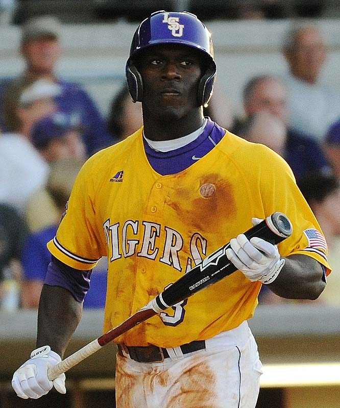 Watch out for two-sport athlete and first-round draft pick Jared Mitchell (pictured), but it was Ryan Schimpf's offensive juggernaut of a performance that led LSU over Rice in two games of the Super Regionals.  This will be the Tigers' second straight appearance in the CWS.<br><br>First game:  Saturday, 6 p.m. vs. Virginia