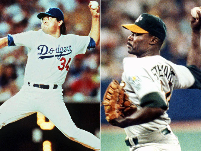 For the first time since 1917 (Hippo Vaughan and Fred Toney), two no-hitters are thrown on the same day as A's Dave Stewart shut outs the Blue Jays, 5-0, and the Dodgers' Fernando Valenzuela blanks the Cardinals, 6-0.