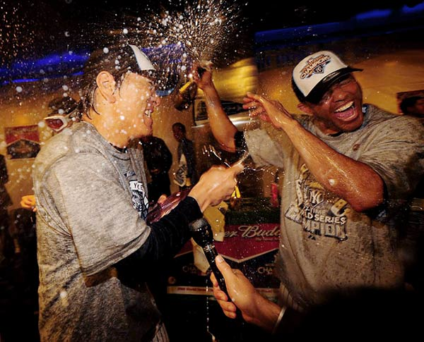While this is the fifth World Series title for Mariano Rivera, it's the first for Hideki Matsui.