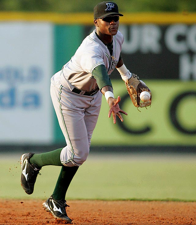<bold>Shortstop, Griffin High</bold> Beckham has shown flashes of the five-tool talent that made him the top pick in 2008, but he has been inconsistent throughout his minor league career. In 2011, he hit .275 in his time in Double-A Montgomery but only .255 after he was promoted to Triple-A Durham. He drew a 50-day ban in 2012 for a second violation of the minor league drug program. He hit .276 in 122 games in 2013 at Durham but tore his ACL in the offseason and is currently rehabbing.