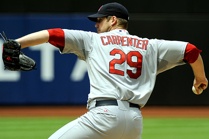 Although he spent some time on the disabled list, Carpenter has been absolutely brilliant in his 10 starts, posting a 1.78 ERA, minuscule 0.701 WHIP and 5-2 record.