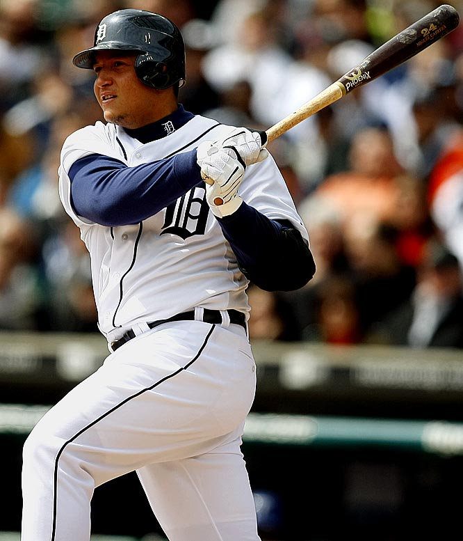 Cabrera has the third-best batting average in the American League (.331), as well as 16 homers and 47 RBIs.