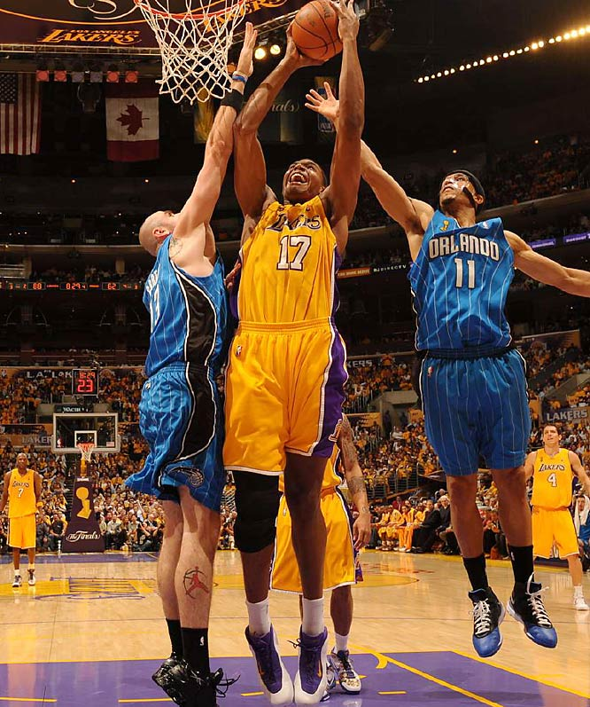 Bynum was effective early and finished with nine points and nine rebounds.