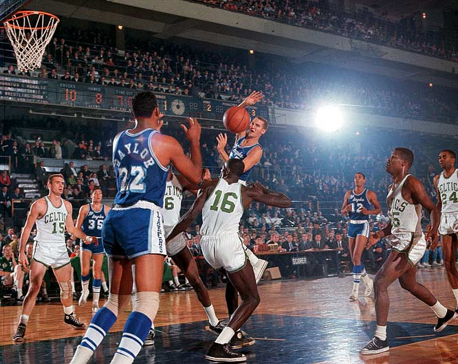 Bob Cousy retired a champion as the Celtics denied Jerry West and Elgin Baylor again, this time in six games.