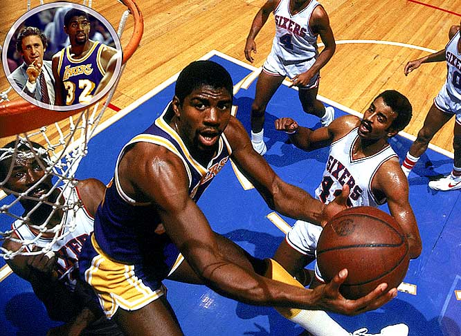 In November, Magic Johnson was demanding a trade (the Lakers responded by replacing coach Paul Westhead with Pat Riley) and getting booed at home. By June, he was winning the Finals MVP award again, controlling the Game 6 clincher with 13 points, 13 rebounds and 13 assists.