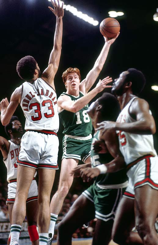 The 6-foot-9 Hall of Famer was an undersized center who won all of the meaningful awards (co-Rookie of the Year, MVP, All-NBA and All-Defensive first team) as well as leading Boston to two championships as Russell's unlikely successor.