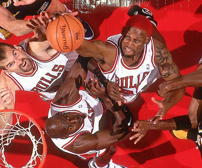 He became so much more than anyone could have predicted -- in all kinds of ways. Rodman contributed to five championship teams in Detroit (two) and Chicago (three), exemplifying the kind of high-effort defender and rebounder teams are often seeking with a late pick.