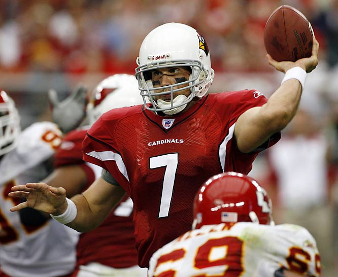 Leinart started 16 games over his first two seasons, splitting time with Kurt Warner who ultimately took the job permanently in 2008. Leinart's party-boy reputation followed him to Arizona, although he rededicated himself this past offseason and has been using MMA training to keep in shape.