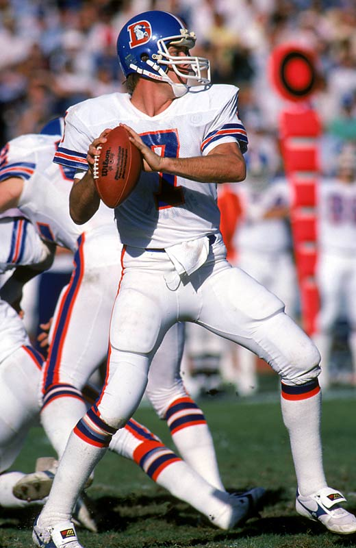 After Elway infamously refused to play for the Colts, he was traded to the Broncos, where he started 10 of 11 games and went 4-6 as a rookie. The early playing time paid off, as Elway led the Broncos to records of 12-2, 11-5 and 11-5 over the next three seasons.