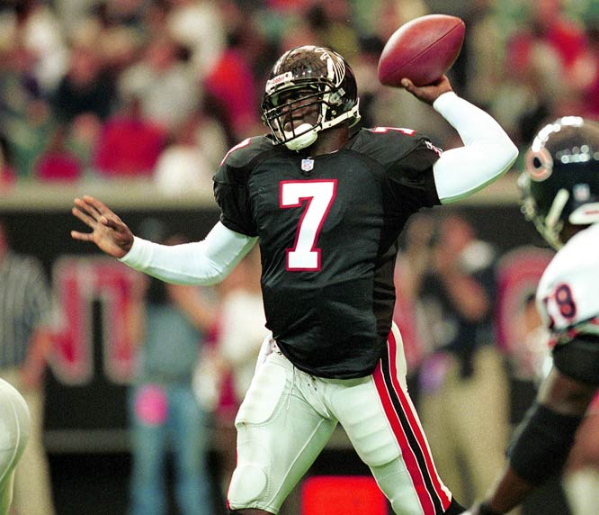 The Falcons were cautious with Vick, only giving him two starts as a rookie. They took off the training wheels in 2002 as Vick started 15 games, going 8-6-1 and making the Pro Bowl.