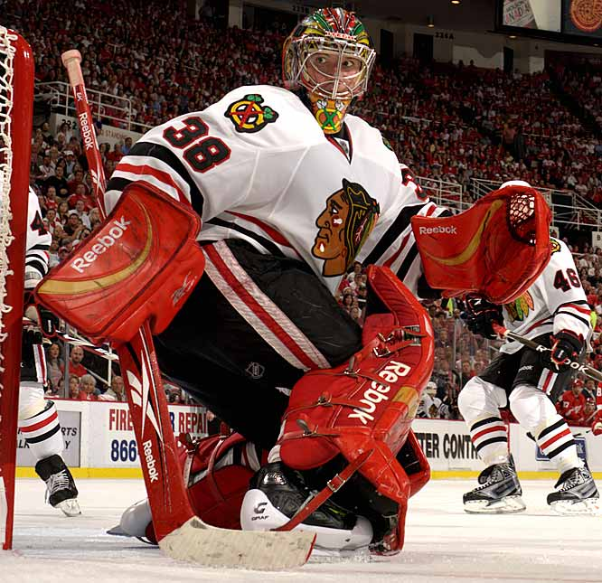 After giving Nikolai Khabibulin a four-year, $27 million deal in 2005, Chicago lavished four years and $22.4 million on Huet, a mid-range No. 1 goalie for Montreal and Washington. He failed to supplant Khabibulin, who Chicago tried to trade and waive. Khabibulin left for Edmonton as a free agent in July 2009. Huet, who became expendable with the emergence of Antti Niemi, was allowed to leave for Switzerland in the summer of 2010 as part of Chicago's big salary cap clear-out.
