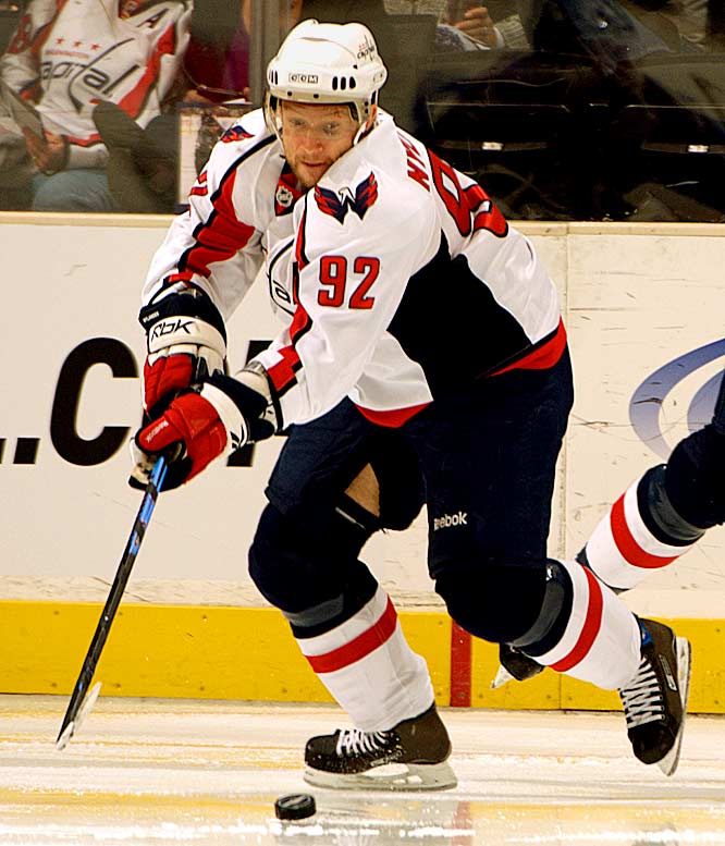 The ex-Rangers center, who did his best work dishing to Jaromir Jagr, was a disaster with the Capitals, who gave him a four-year, $19.5 million deal. He produced just nine goals and 24 assists in 72 matches during the 2008-09 regular season and played in three playoff games. Given the chemistry between Alex Ovechkin and center Nicklas Backstrom, Nylander had no place on the team and was re-assigned to Jokerit Helsinki in January 2010.