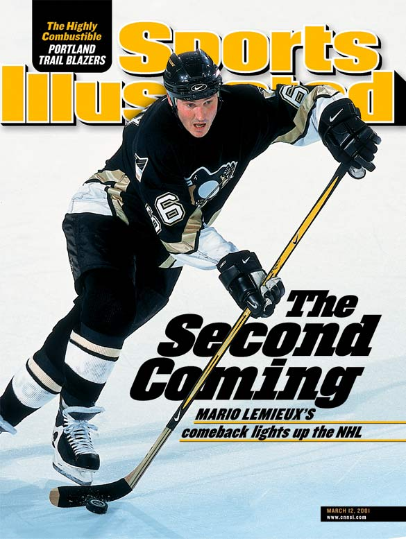 Mario Lemieux makes a stunning return to action, scoring a goal and assisting on two others as the Penguins beat Toronto, 5-0, in Pittsburgh. The Hall of Famer went on to notch 16 goals and 14 assists in his first 15 games and play in the All-Star Game. Jaromir Jagr won the scoring title, but Lemieux finished with 35 goals and 41 assists in 43 games as the Penguins advanced to the Eastern Conference Finals before falling to the Devils.