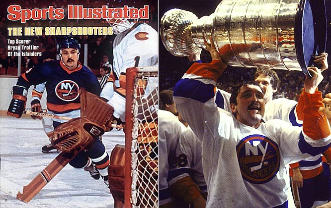 Arguably the finest two-way forward of his time, the tough but skillful Hall of Fame center won four straight Cups with the Islanders (1980-84) and scored 1,425 points during his 18-year career. His mantelpiece includes the Calder, Ross, Hart, and Smythe trophies as well as the King Clancy for his work on behalf of Special Olympics, Easter Seals and Make-A-Wish, among others.