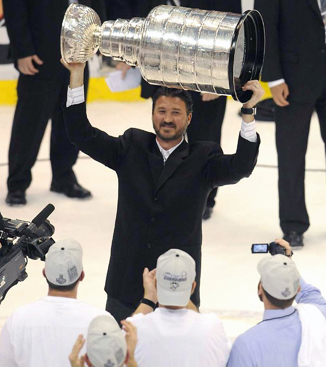 Mario Lemieux is believed to be the first NHLer in history to win a Stanley Cup as both a player and owner.