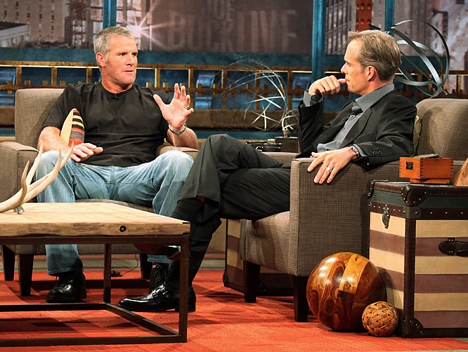 "Completely overshadowed by Artie Lange's performance on <i>Joe Buck Live</i> was Favre all but announcing his return to the NFL to play for the Vikings when he's healthy. He slipped up a couple of times during the interview and said ""we"" in reference to the Vikings. Let the countdown begin to Oct. 5, when the Vikings play the Packers on <i>Monday Night Football</i>."