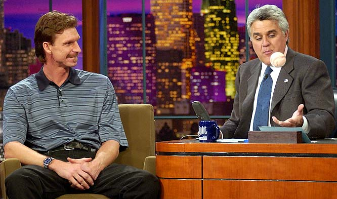 After winning the World Series, Johnson made the talk show rounds, including an appearance on 'The Tonight Show' with Jay Leno.