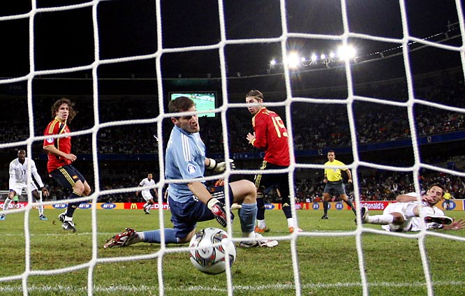 Spain entered the tournament riding a 35-game unbeaten streak. But the U.S. didn't back down from the world's top-ranked team, using a gritty defensive effort and a pair of opportunistic goals from Jozy Altidore and Clint Dempsey to score a 2-0 win, one of the greatest victories in the history of the U.S. men's national soccer team. Here are some of the others.