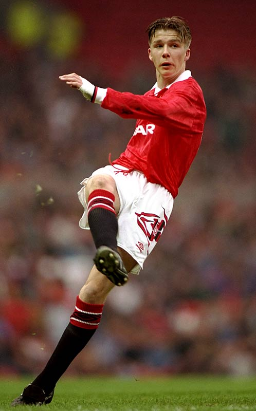 After signing with the club as a trainee in 1991, Beckham made his first-team debut for Manchester United at age 17 as a reserve in its second round Rumbelows Cup match against Brighton & Hove Albion.