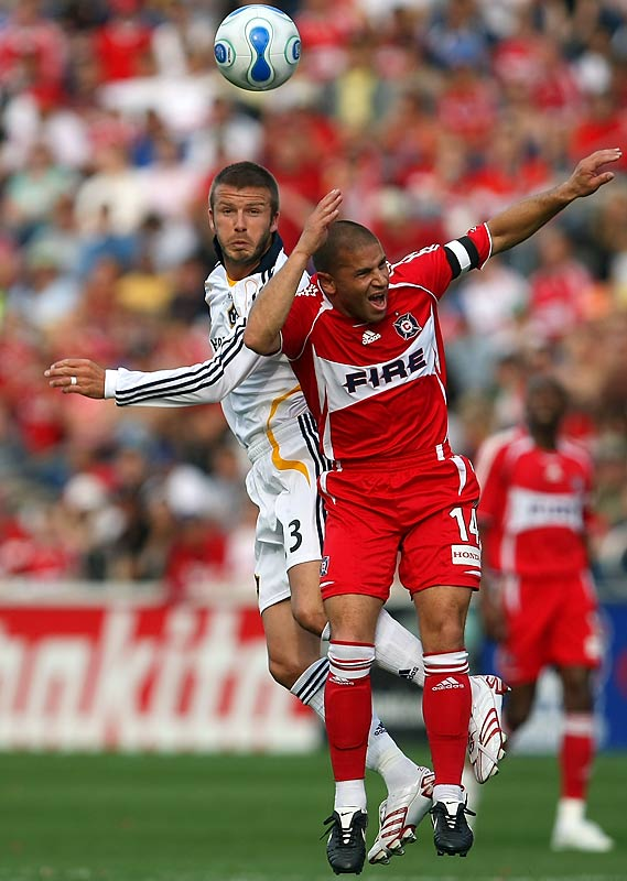 In 2007, Beckham left European soccer and Real Madrid to play in the U.S. for the Los Angeles Galaxy of Major League Soccer. He agreed to a five-year deal with the Galaxy and joined the Hollywood in-crowd in L.A.