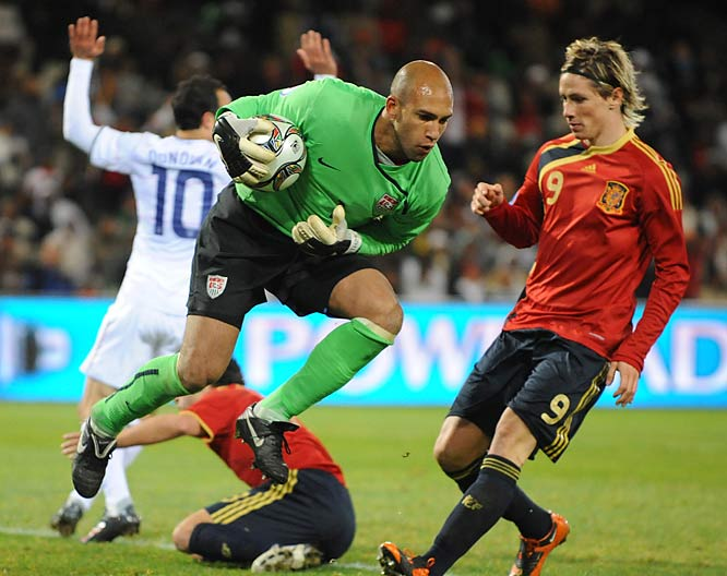 Tim Howard helped the U.S. hand the Spaniards their first loss since November 2006.