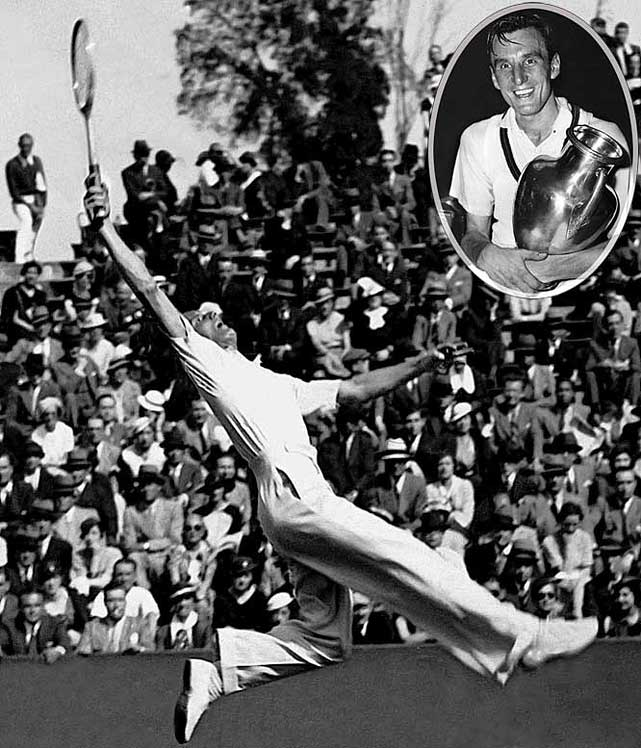 Australian Open (1934)   French Open (1935)   Wimbledon (1934, '35, '36)   US Open (1933, '34, '36)     Perry, who won three titles apiece at Wimbledon and the U.S. Open, remains the last player from Great Britain to win at each of the four Grand Slam events.