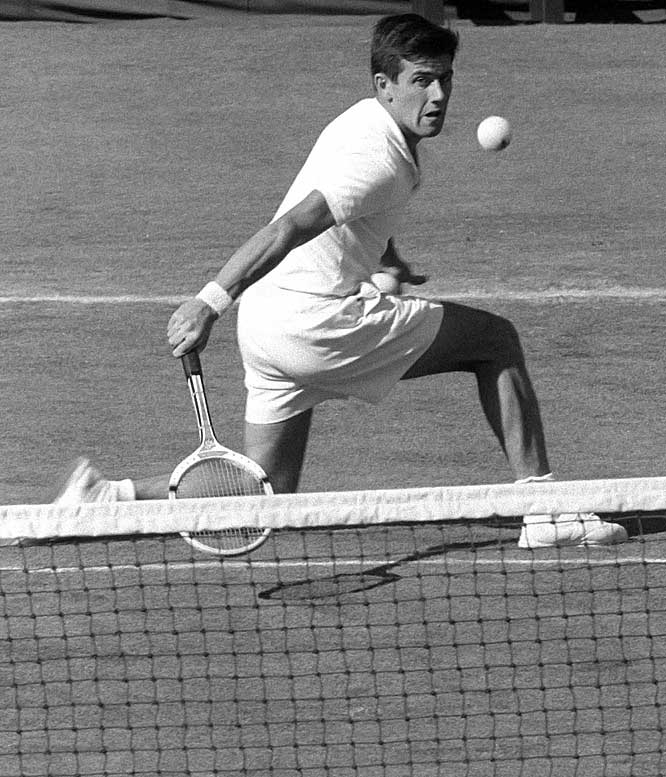 Australian Open (1953, '55, '71, '72)   French Open (1953, '68)   US Open (1956, '70)     Rosewall won four Australian Open, two French Open and two U.S. Open titles during a career spanning three decades. He never managed to complete the career Grand Slam at Wimbledon, though he was a four-time finalist at the All England Club.