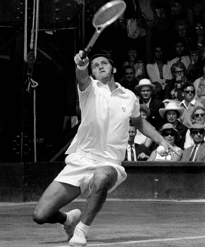 Australian Open (1961, '63, '64, '65, '66, '67)   Wimbledon (1964, '65)   French Open (1963, '67)   US Open (1961, '64)     The Australian-born Emerson remains the lone men's player to have won singles and doubles titles at each of the four Grand Slam tournaments. His last major singles title came against Tony Roche at the '67 French Championships.