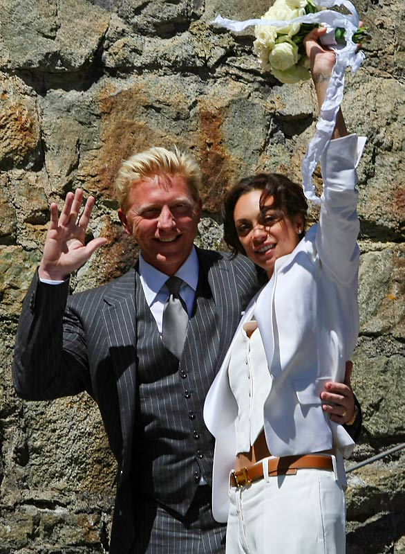 The six-time Grand Slam champ married Sharlely ''Lilly'' Kerssenberg in Switzerland last week. Among the 200 guests were German soccer legend Franz Beckenbauer and two-time Formula One champion Mike Hakkinen.