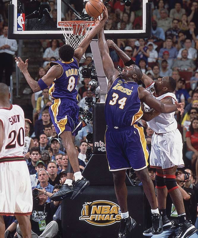 The Los Angeles Lakers defeat the Philadelphia 76ers, 108-96, in Game 5 of NBA Finals in 2001 to capture the NBA title. It was the most dominant performance in NBA history as the Lakers had a 15-1 record and .937 winning percentage in the playoffs.