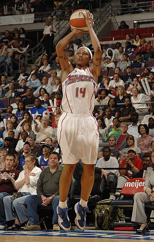 The Shock are smarting from infirmities and the loss of pivot Kara Braxton, who is serving a six-game league suspension after pleading guilty to an offseason drunk-driving charge, but their fighting spirit is hardly wounded. They showed impressive grit in their revenge upset of LA -- largely because of Deanna Nolan (pictured, 21.0 ppg), who's making a convincing early case for the MVP.<br><br>Next three: 6/10 vs. Washington; 6/19 vs. Indiana; 6/21 at Indiana