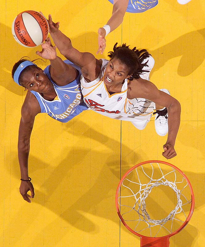 As Tamika Catchings and Katie Douglas go, so goes the Fever. And they appeared headed for trouble after the first game, which saw Catchings sit out the second half after re-bruising her right quadriceps and Douglas start the game with a wrap on her right (non-shooting) wrist. The good news is their supporting cast showed signs of life in Tuesday night's victory over the Storm. Ebony Hoffman and Tammy Sutton-Brown (pictured) combined for 28 points. <br><br>Next three: 6/12 vs. Los Angeles; 9.	Indiana (1-2)