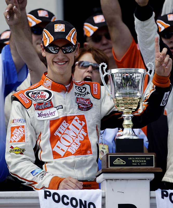 Logano, who was not allowed to begin his NASCAR career until he turned 18 in May 2008, went from prodigy to champion by winning the rain-shortened Lenox Industrial Tools 301 at New Hampshire Motor Speedway. In doing so, he became the youngest driver to win a Sprint Cup Series Race.  Send comments to siwriters@simail.com