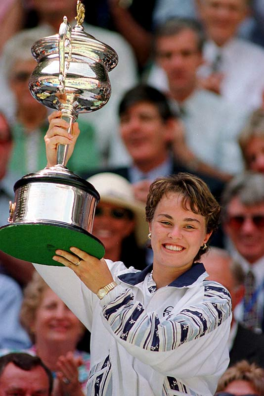 Hingis burst onto the professional women's tennis tour in 1994, two weeks past her 14th birthday and never looked back. She became the youngest Grand Slam winner in 1994, when she teamed with Helena Sukova at Wimbledon to win the women's doubles title at 15 years, nine months. Six months later, she became the youngest to win a Grand Slam singles title by beating Mary Pierce in the Australian Open finals.