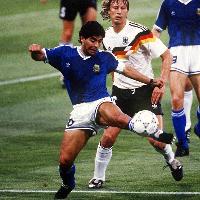 In soccer, you're either a Pele guy or a Maradona guy, and I am an unapologetic Maradona guy -- at least Maradona, circa 1986 World Cup. No player has ever taken over a World Cup like that, and the goals he scored were insane.