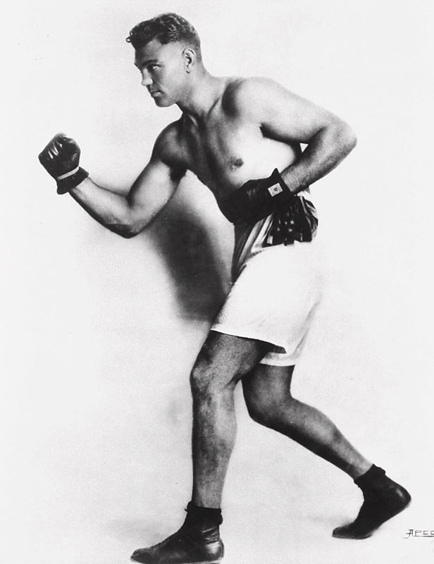 The Manassa Mauler rode out of the hobo camps of the Wild West to become heavyweight champion during the Roaring Twenties. Bobbing, weaving, forever coming forward, he was a tremendous puncher who chopped down opponents far bigger than he was and then (as permitted by the rules of the day) stood over them ready to attack again as soon as they rose. The bout that symbolized his ups and downs: Knocked clear out of the ring by the giant Luis Angel Firpo in the Polo Grounds in 1923, Dempsey climbed back in and KO'd Firpo in the next round.