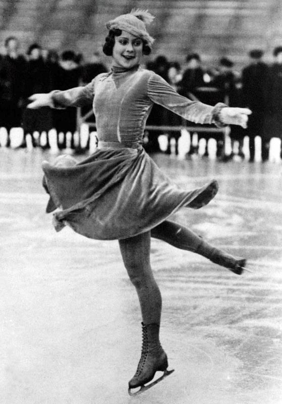The Norwegian three-time Olympic champ became the first skater whose star appeal crossed the borders of her country and her sport. Taught by a ballerina and attuned to choreography and glamour, Henie later appeared in more than a dozen Hollywood films, often playing herself.
