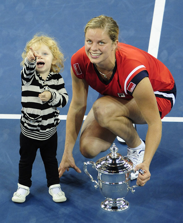 With her quarterfinal victory at the Open Gaz de France on Feb. 11, Kim Clijsters regained the No. 1 ranking for the first time since giving birth to daughter Jada during a 28-month hiatus from tennis. Here's a look at some other famous athletes who balance their athletic career with motherhood.