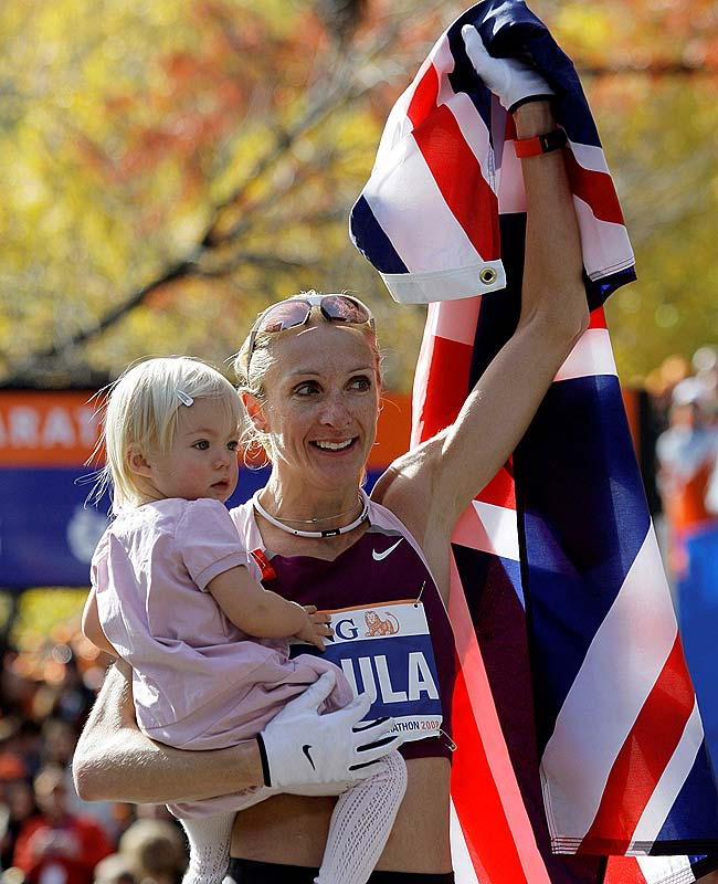 British marathon runner Paula Radcliffe won the NYC marathon nine months after the birth of her daughter, Isla.