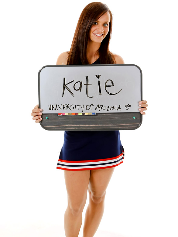 Meet Katie, a sophomore at the University of Arizona. Katie, an avid skier, loves to take risks.<br><br>Want to find out more? <br>Click the '20 Questions' link below.