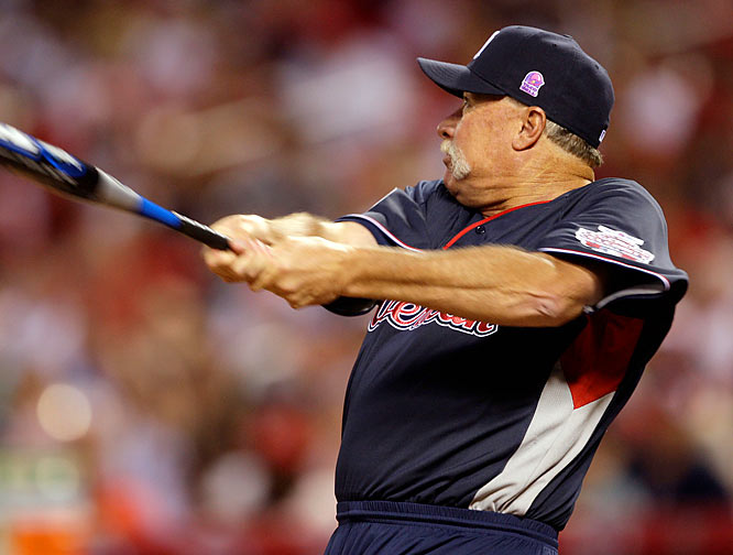 Hall of Fame pitcher Rich 'Goose' Gossage bats for the American League.
