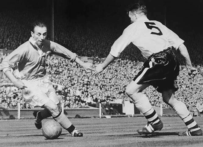 One of the great English footballers in history, the Wizard of the Dribble was the first winner of both the European Footballer of the Year and the Football Writers' Association Footballer of the Year awards. He played for two decades for England was still an active national team member in his 40s.<br><br>Who would you add to the list? Send suggestions to siwriters@simail.com